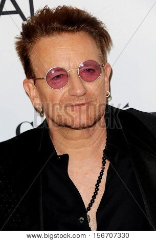 Bono at the Glamour Women Of The Year 2016 held at the NeueHouse in Hollywood, USA on November 14, 2016.