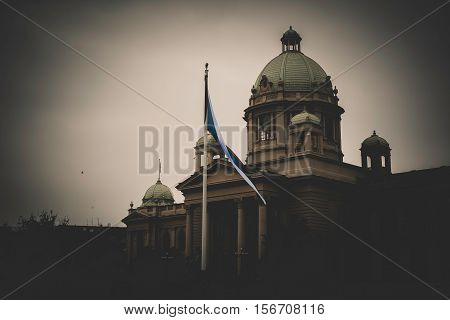 House of the National Assembly. Belgrade Serbia. poster
