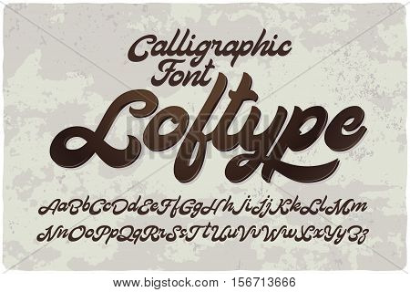 Vintage bold calligraphic brush font named