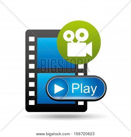 play movie film camera design vector illustration eps 10