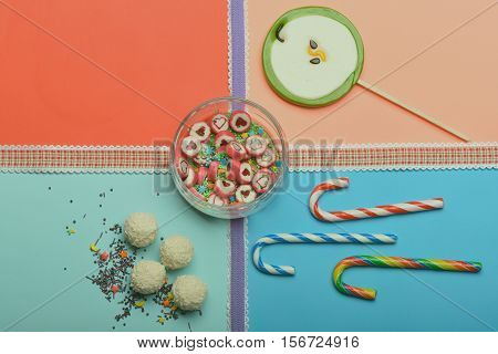 Set Of Colorful Candies