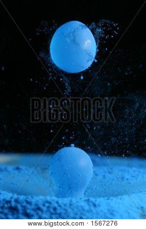 Water Drops, Cyan Powder