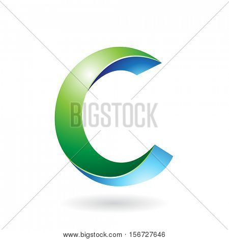 Design Concept of a Abstract Icon of Letter C, Vector Illustration