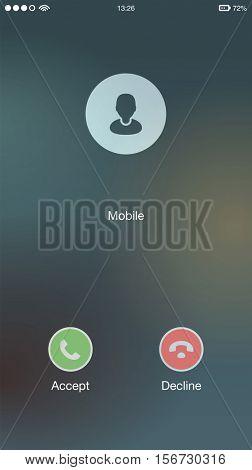 Generic Incoming Phone Call Screen User Interface UI Vector