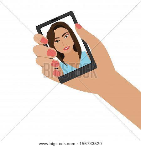 selfie photographic concept icon vector illustration design