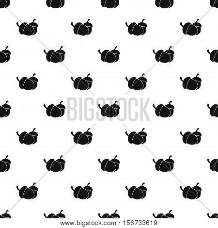 Acorns pattern. Simple illustration of acorns vector pattern for web