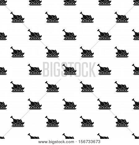 Roasted turkey pattern. Simple illustration of roasted turkey vector pattern for web