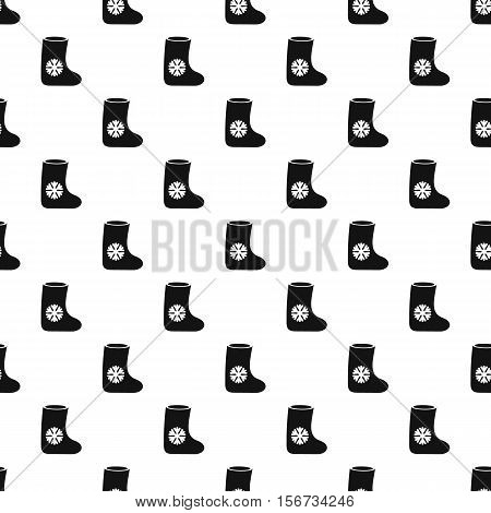 Felt boot pattern. Simple illustration of felt boot vector pattern for web