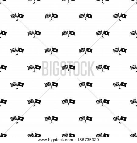 UK and Japan flags pattern. Simple illustration of UK and Japan flags vector pattern for web