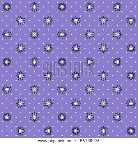 Seamless vector background. Abstract calico pattern and polka dots. Easy to change colors.