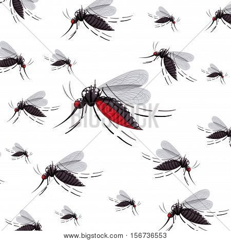 mosquito insect icon. Malaria virus pest nature and bug theme. Isolated design. Vector illustration