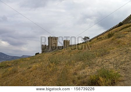 Genoese fortress in Sudak Crimea. The going up to the consular castle.
