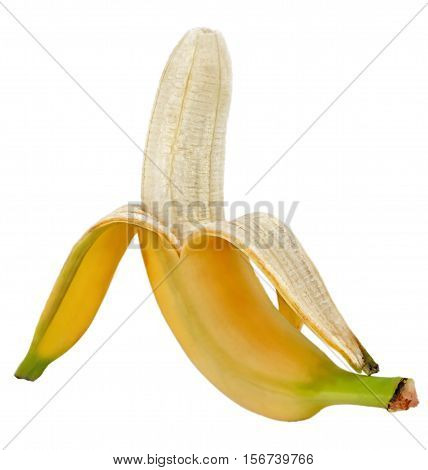 Banana. Ripe Banana Isolated On White Background