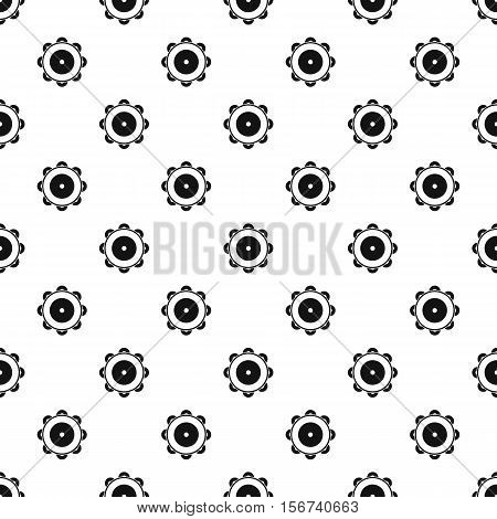 Tambourine pattern. Simple illustration of tambourine vector pattern for web
