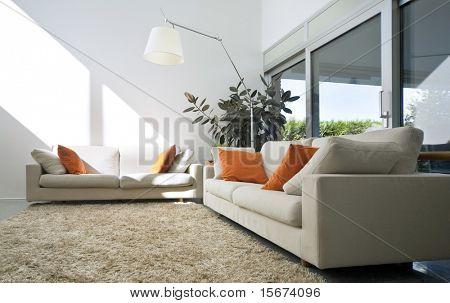 casa de tijolo moderno interior