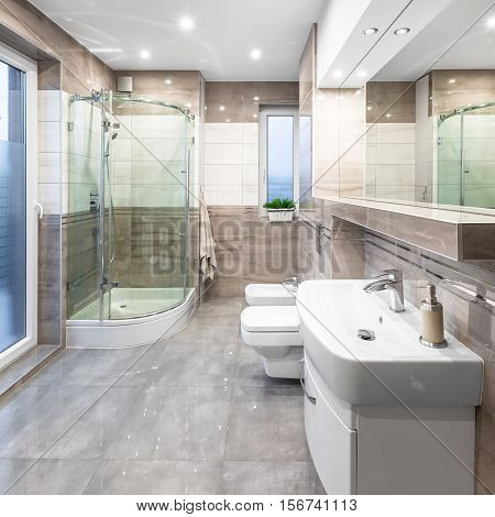 Spacious Bathroom With Shower