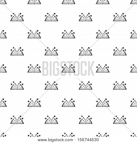 Magic book pattern. Simple illustration of magic book vector pattern for web