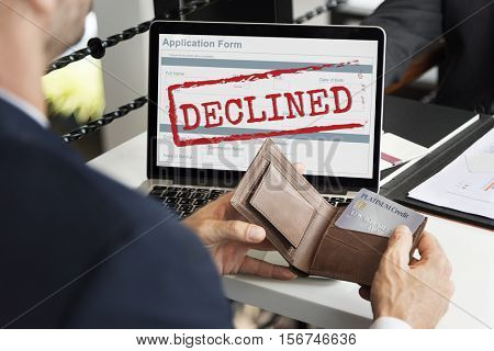 Declined Deny Reject Stamp Concept