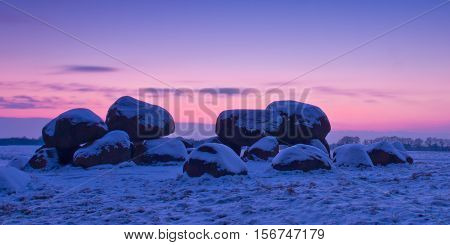 Dutch Dolmen In Snow