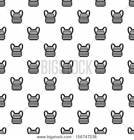 Bulletproof vest pattern. Simple illustration of bulletproof vest vector pattern for web