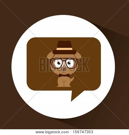 hipster doggy vintage icon graphic vector illustration eps 10