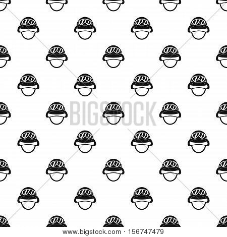 Helmet with goggles pattern. Simple illustration of helmet with goggles vector pattern for web
