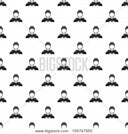 Fighter pilot pattern. Simple illustration of fighter pilot vector pattern for web