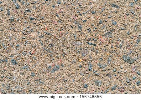 Texture Of Cement Floor Aged With Small Blue Flints