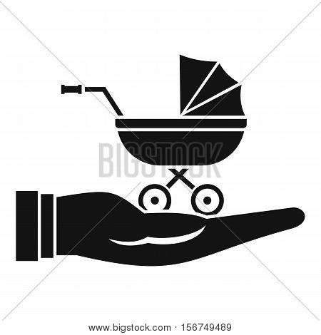 Baby pram protection icon. Simple illustration of baby pram protection vector icon for web design