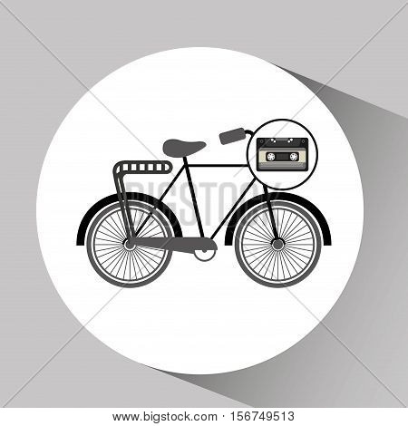 music cassette bicycle vintage background desgin vector illustration eps 10