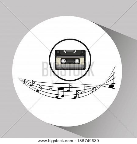 music cassette vintage background desgin vector illustration eps 10