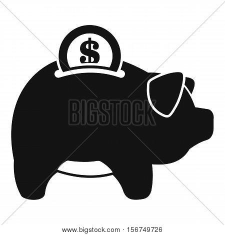 Pig money box icon. Simple illustration of pig money box vector icon for web design