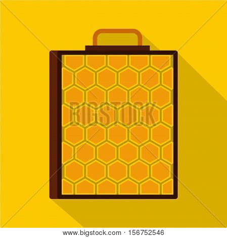 Honeycomb icon. Flat illustration of honeycomb vector icon for web