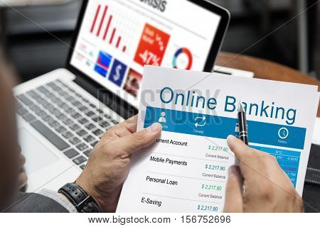Online Banking Account Transaction Concept