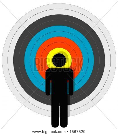 Targeted Person In Bullseye