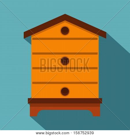 Hive icon. Flat illustration of hive vector icon for web
