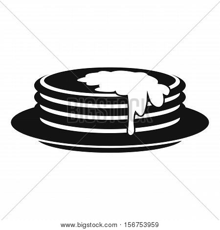 Pancakes icon. Simple illustration of pancakes vector icon for web