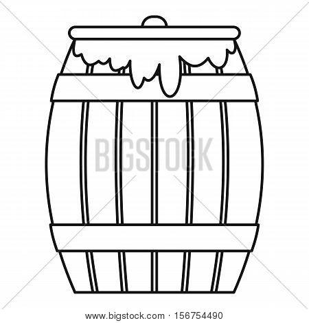 Honey keg icon. Outline illustration of honey keg vector icon for web
