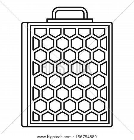 Honeycomb icon. Outline illustration of honeycomb vector icon for web