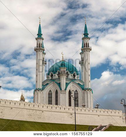 Kul Sharif Mosque in Kazan city. Tatarstan Russia. Autumn 2016
