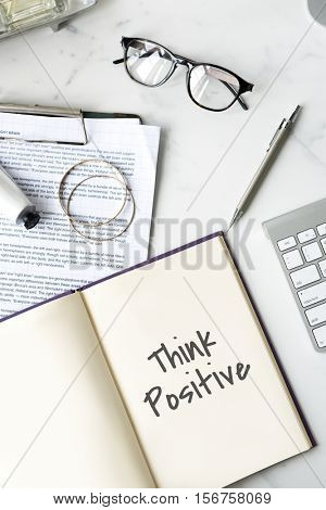 Be Positive Think Optimistic Attitude Mindset Concept