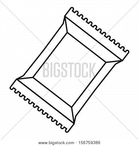 Napkins pack icon. Outline illustration of napkins pack vector icon for web