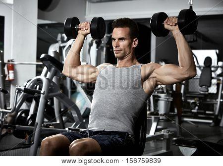 Shoulder bench press workout
