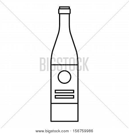 Wine bottle icon. Outline illustration of wine bottle vector icon for web