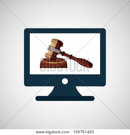 business finacial, judge gavel icon design vector illustration eps 10
