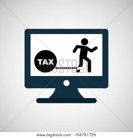 business financial burden taxes icon vector illustration eps 10