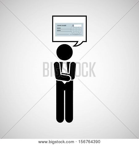 concept stock exchange market bank check icon vector illustration eps 10