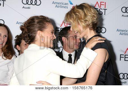 LOS ANGELES - NOV 14:  Natalie Portman, Greta Gerwig at the