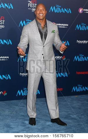 LOS ANGELES - NOV 14:  Dwayne Johnson at the