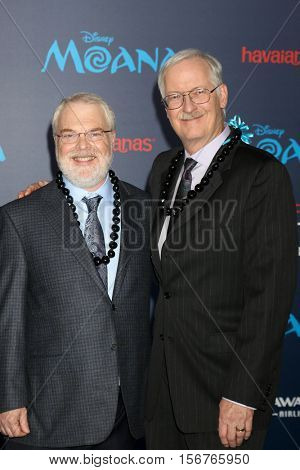 LOS ANGELES - NOV 14:  Ron Clements, John Musker at the